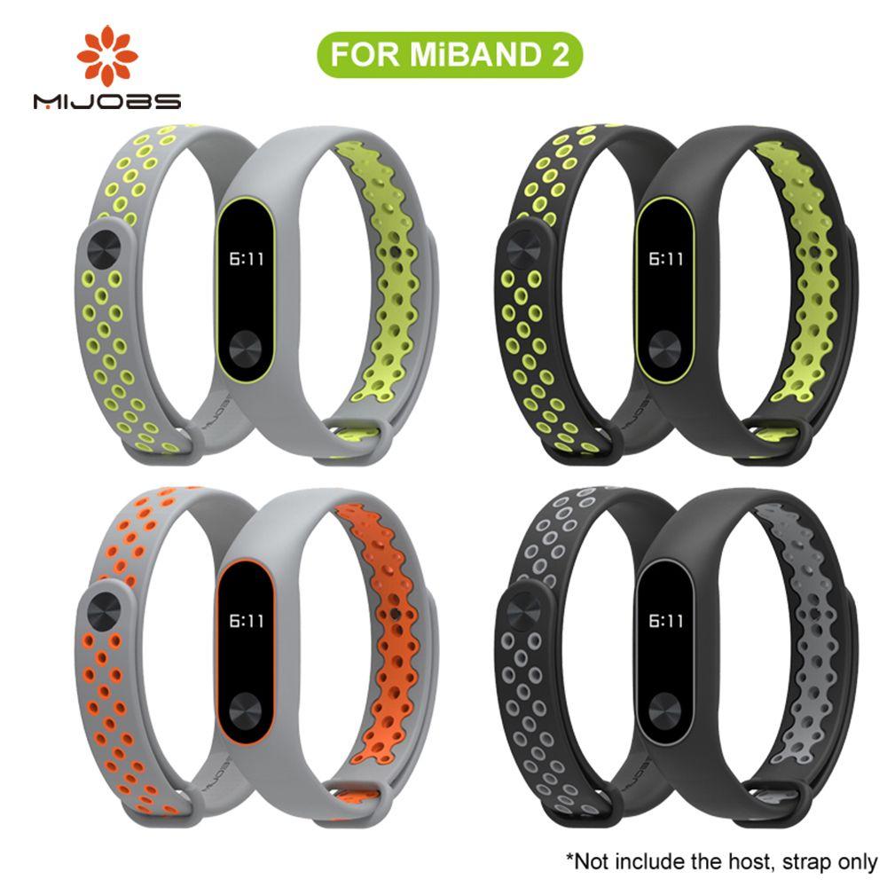 Mijobs Xiaomi Mi Band 2 Band Sport miband 2 Für xiaomi mi band 2 Armband Bunte Silikon Ersatz