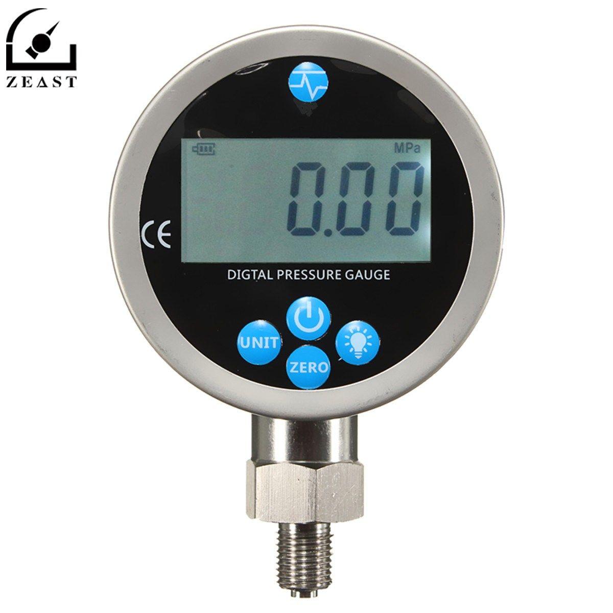 Digital Hydraulic Pressure Gauge 400BAR/40Mpa/10000PSI with BSP1/4 Connector Backlight Pressure Tester Meter