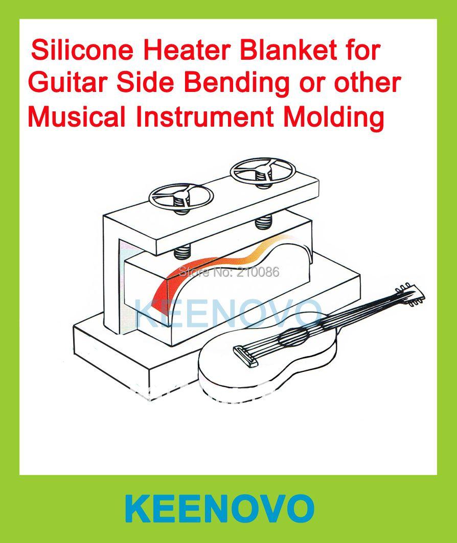 Paquet Vente Guitare/Instrument de musique Machine À Cintrer/Moule/Moule Thermique Couverture/Flexible Chauffe En Silicone 152X914 et 150X200mm