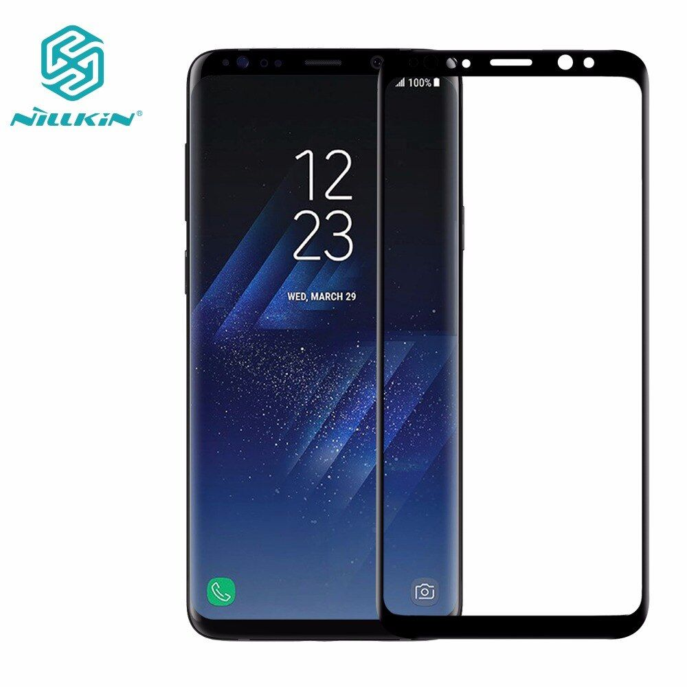 Tempered Glass Screen Protector For Samsung Galaxy S9 /S9 Plus NILLKIN Amazing 3D CP+MAX <font><b>Nano</b></font> Anti-Explosion 9H Protective Glass