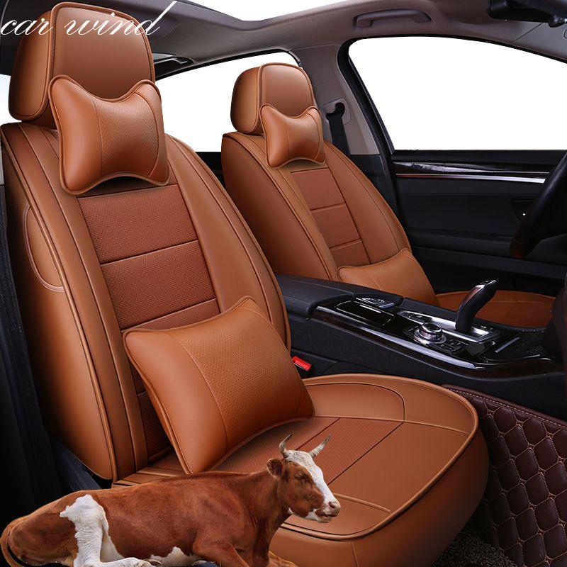 Auto Wind automovil leder auto sitzbezug für toyota solaris RAV4 skoda rapid bmw e46 Land Cruiser Prado 150 kia auto zubehör