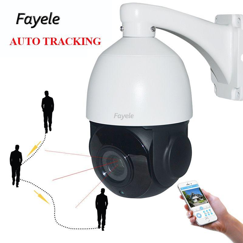 Security Speed Dome Auto tracking IP PTZ Camera Network 1080P Auto tracker 20X Optical zoom P2P mobile view XMeye ONVIF IR 80M