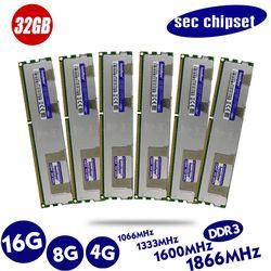 Оригинальный мобильный телефон 4 Гб DDR3 1333 МГц 1600 1866 МГц 4G 1333 1600 1866 радиатор регистровая и ecc-память сервера память 8 ГБ флеш-накопитель 16Гб 8Гб ...