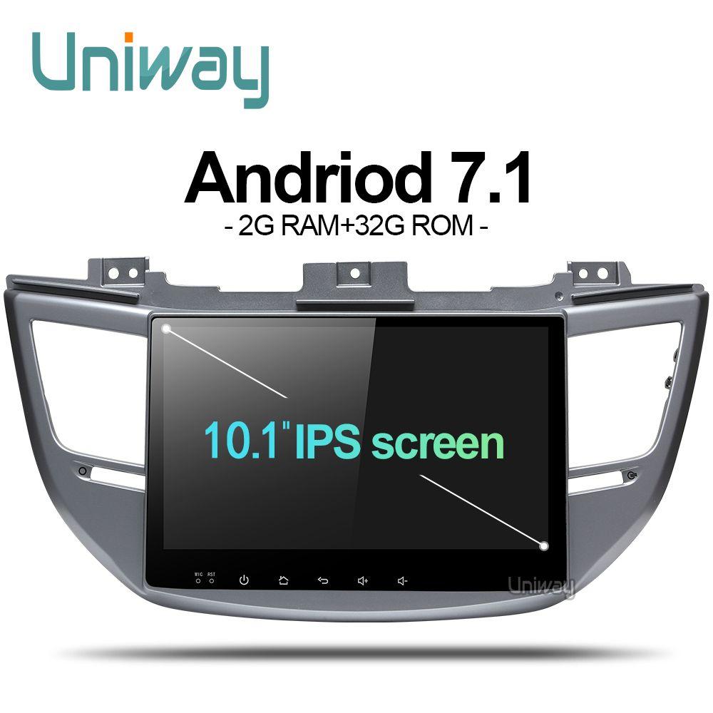 uniway AXTS1071 2G+32G Octa 8 core  android 7.1  car dvd for Hyundai Tucson/IX35 2016 2017 multimedia car radio gps