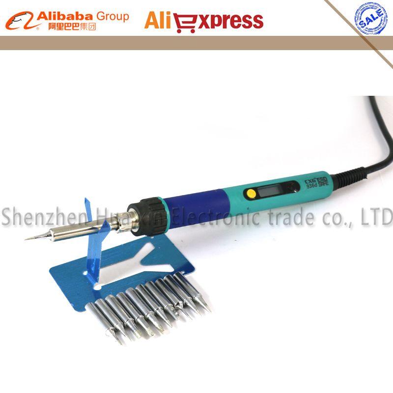 936d LCD Adjustable temperature Digital Electric Soldering station EU plug+10/PCS Solder tip Replace HAKKO 936 Soldering station