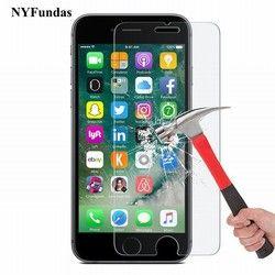 NYFundas Trempé Protecteur D'écran En Verre Pour Apple iPhone 7 Plus 6 S 6 5 5S SE 4 4S Film Protection verre trempe ScreenProtector