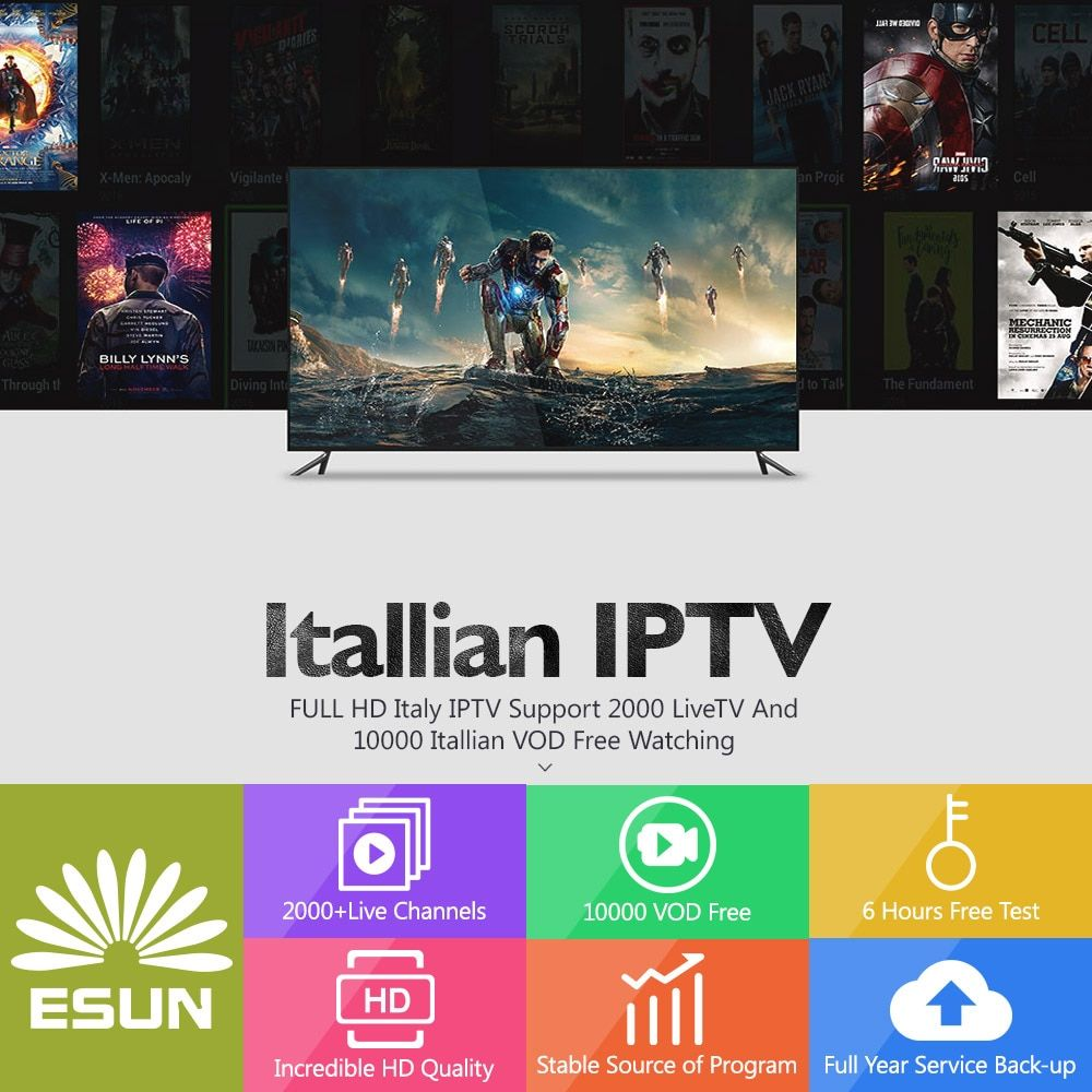 1/3/6/12 Months Italy IPTV Europe IPTV Support Android m3u enigma2 mag250 and tvonline TVIP 2000+Vod XXX supported.