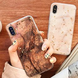 Luxury Gold Foil Bling Marble Phone Cases For iPhone 11 X Cover Soft TPU For iPhone XR XS MAX 7 8 6 6s Plus Glitter Case Coque