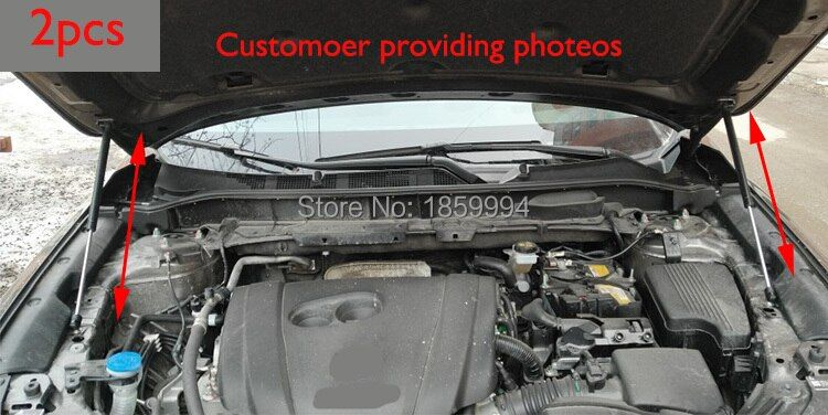 For 2017 2018 mazda cx-5 cx5 KF 2nd refit front hood Engine cover <font><b>Hydraulic</b></font> rod Strut spring shock Bar