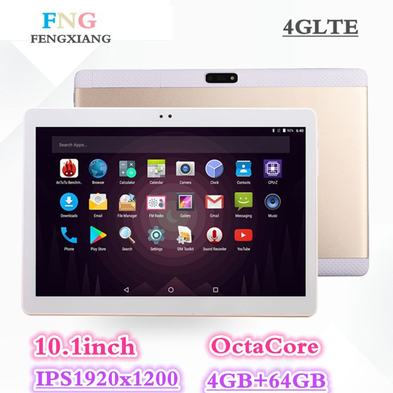 2018 NEW Octa Core 3G 4GLTE Tablet PC 4GB RAM 64GB ROM Dual Cameras 8MP Android 7.0 Tablet 10.1 inch Handheld computers 7 8 10