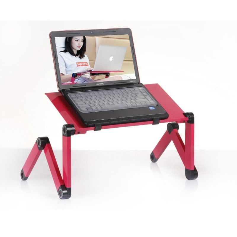 SUFEILE Hot Selling Popular Laptop Desk 360 Degree Adjustable Folding Laptop Notebook Desk Table Stand Portable Bed Tray D5