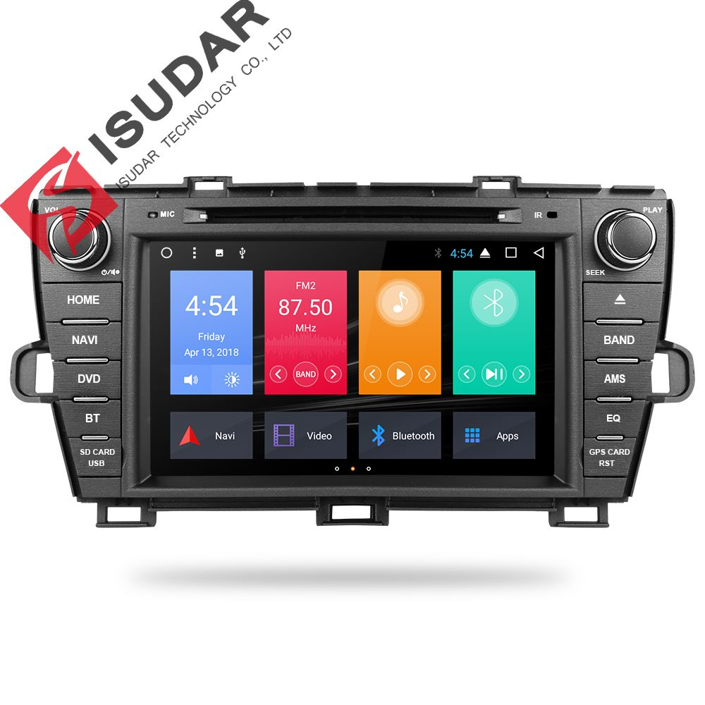 Isudar Auto Multimedia-player 2 din Auto DVD android 7.1.1 8 Zoll Für Toyota Prius 2009-2013 Links Fahren Quad core Radio FM GPS