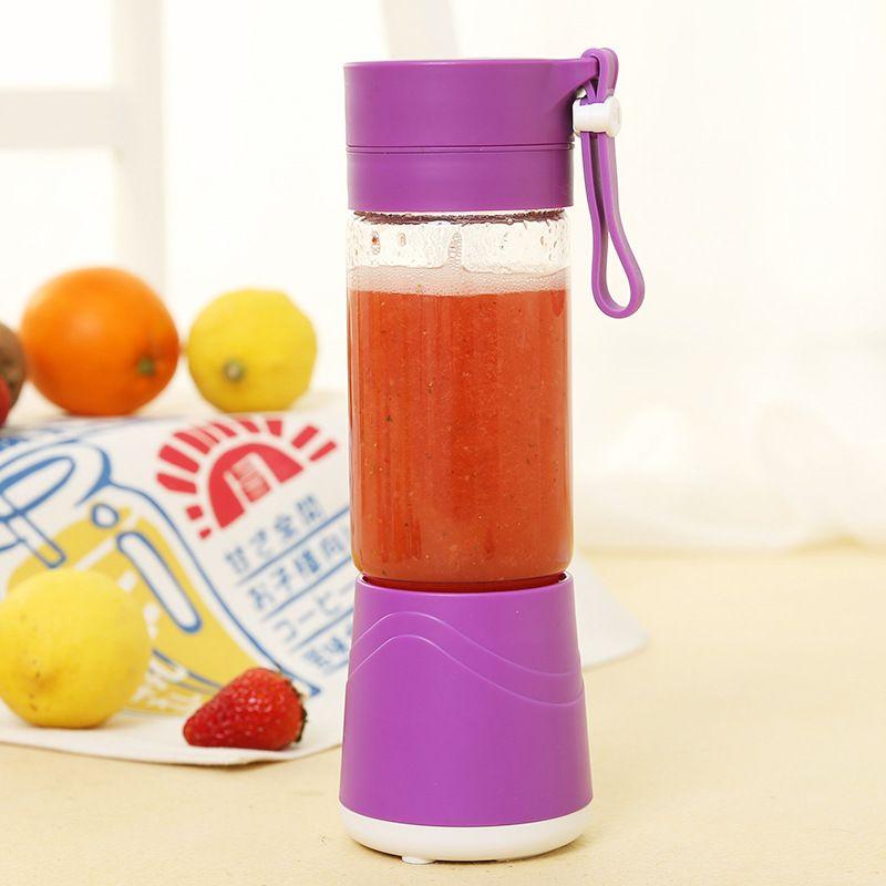 380ML USB Rechargeable Juicer Cup Bottle Citrus Blender Fruit Milkshake Smoothie Squeezer