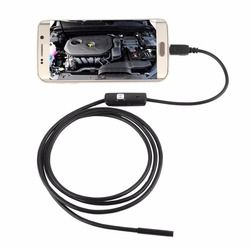 6 LED 7mm Lens Cable 1 1.5 2 3.5 5M Waterproof Mini USB Inspection Borescope Camera For Android Endoscope 640*480 Phone