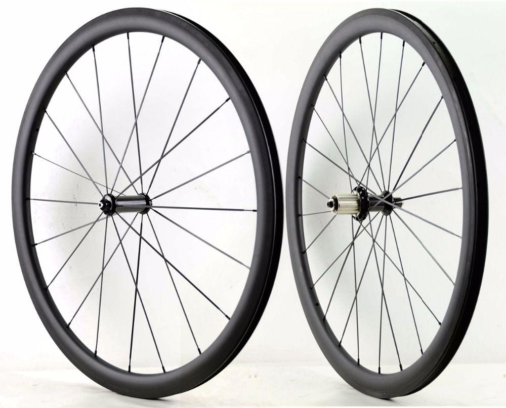 700C 38mm tiefe straße carbon räder 25mm breite Rohr/Klammer fahrrad carbon laufradsatz mit R36 keramik hub sapim cx-ray speichen