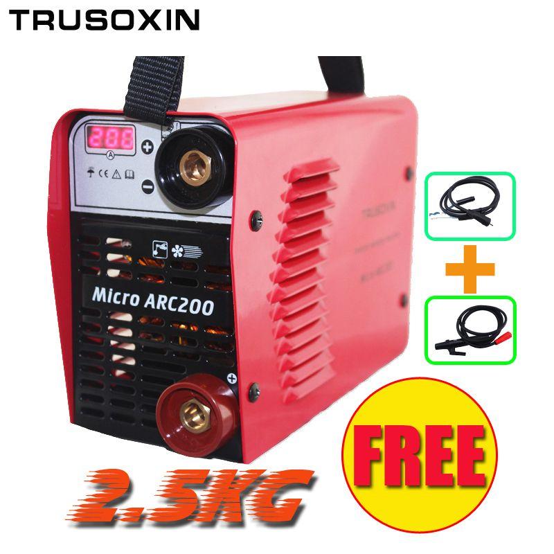 Outil 3.2mm électrode de soudage Spécial soudeur 220 V/230 V MINI 200A Inverter DC machine De Soudage IGBT/équipement de soudage livraison gratuite