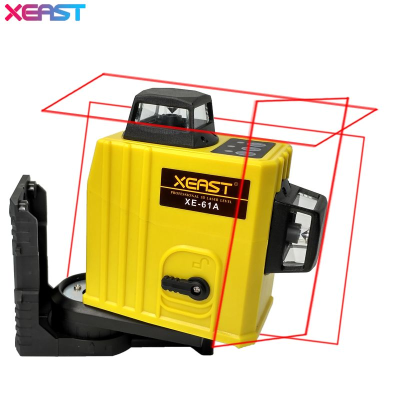 XEAST XE-61A 12 line laser level 360 Self-leveling Cross Line 3D Laser Level Red Beam With Tilt&Outdoor Mode can use Receiver