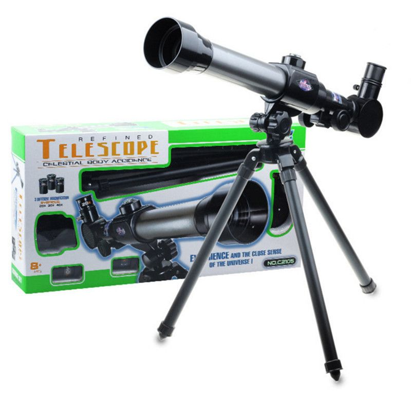 Child Kids Telescope Zoom Astronomical Professional Telescope Space Astronomy Monocular Eyepiece with Box
