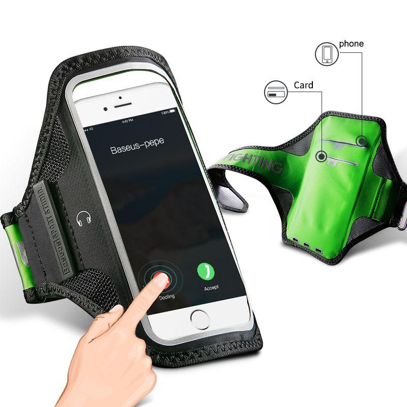 Baseus Courir Sport Brassard Pour iPhone 7 6 6 s Plus Samsung Huawei Téléphone Brassard Gym En Plein Air Téléphone Sacs Pour Samsung S8 S7 couverture