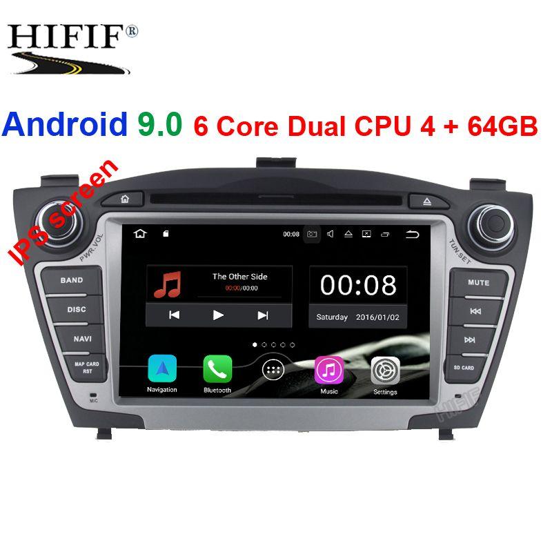 IPS Auto Multimedia-Player Auto Radio GPS Zwei Din Android 9.0 Für Hyundai/IX35/TUCSON 2009-2015 OBD2 bluetooth DSP 1080 P Wifi