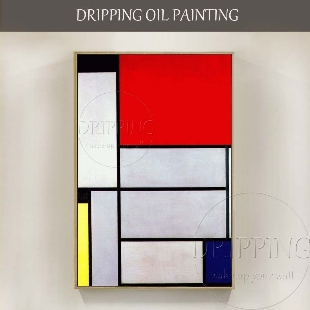 New Arrivals Hand-painted Wall Art Geometry Painting Simple Design Modern Abstract Tableau Oil Painting Simple Oil Painting