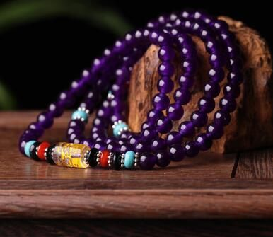 Natural agate bracelet beads, a variety of colors