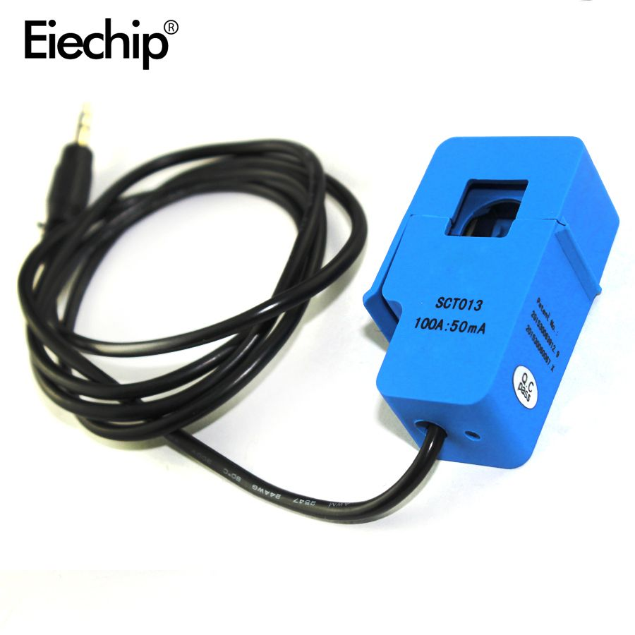 1 pièces SCT-013-000 Non invasif Split Core transformateur de courant AC capteur de courant 100A pour arduino bricolage Kit de démarrage électronique