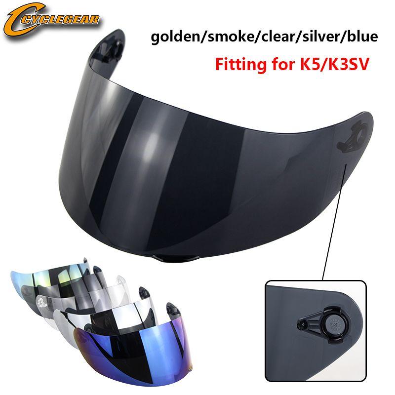 1 pc K5 K3SV K1 casque de moto visière accessoires et pièces de moto pour K3 K4 Casco Anti-UV casque lentille