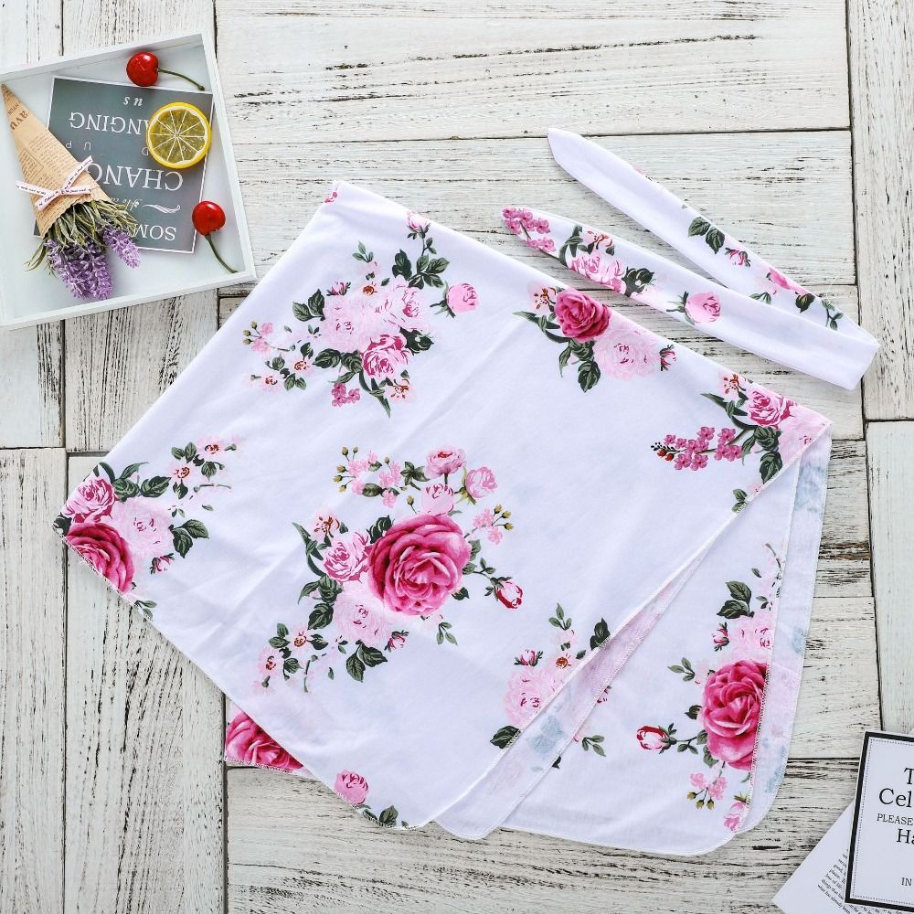 Newborn Baby Blanket 0rganic Muslin Swaddle Cotton Floral Print Baby Soft Breathable Bedding Baby Blankets