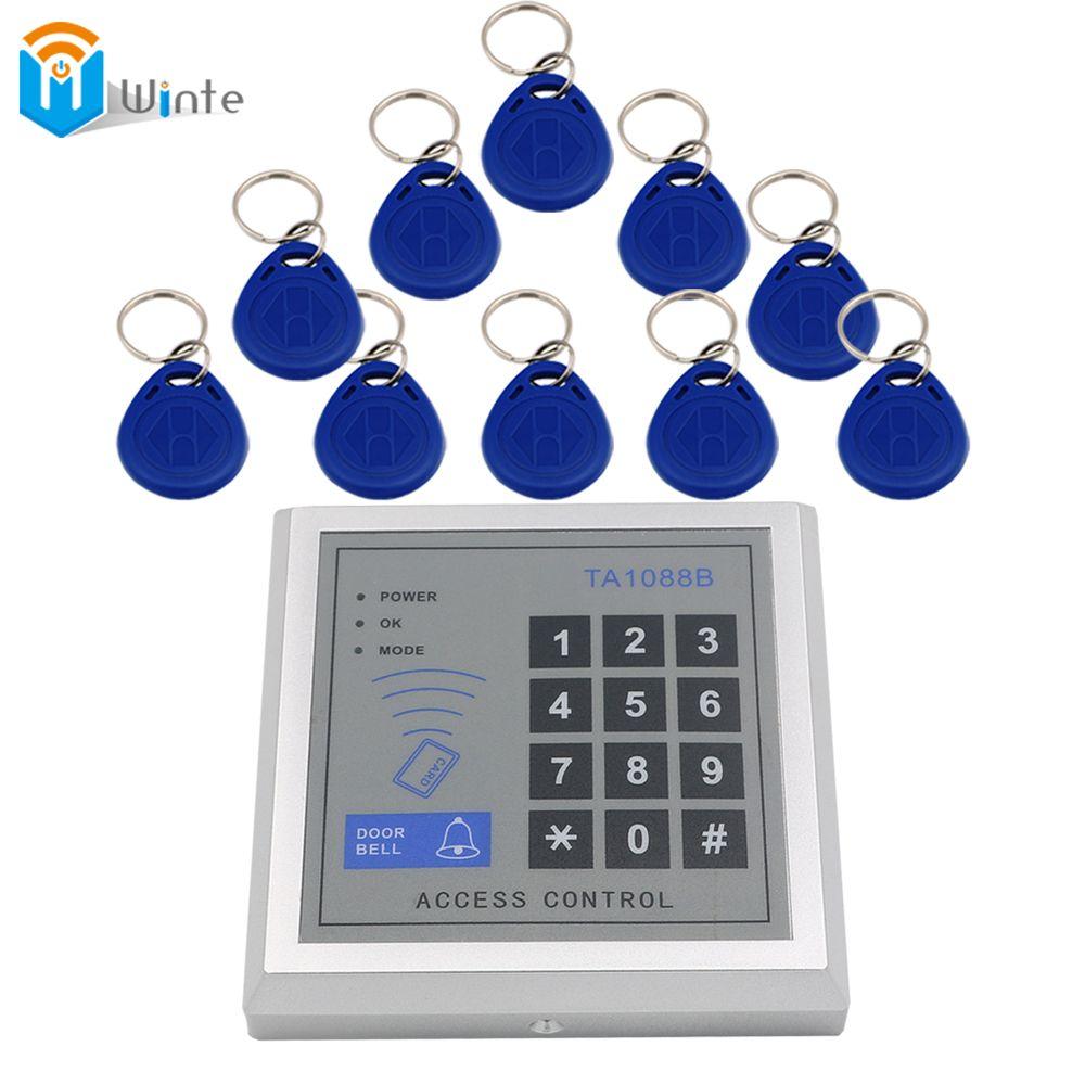 Система контроля доступа 10 шт. RFID брелок ключи + 1 шт. Card Reader ключ доступа Pad RFID входной двери Управление доступом winte