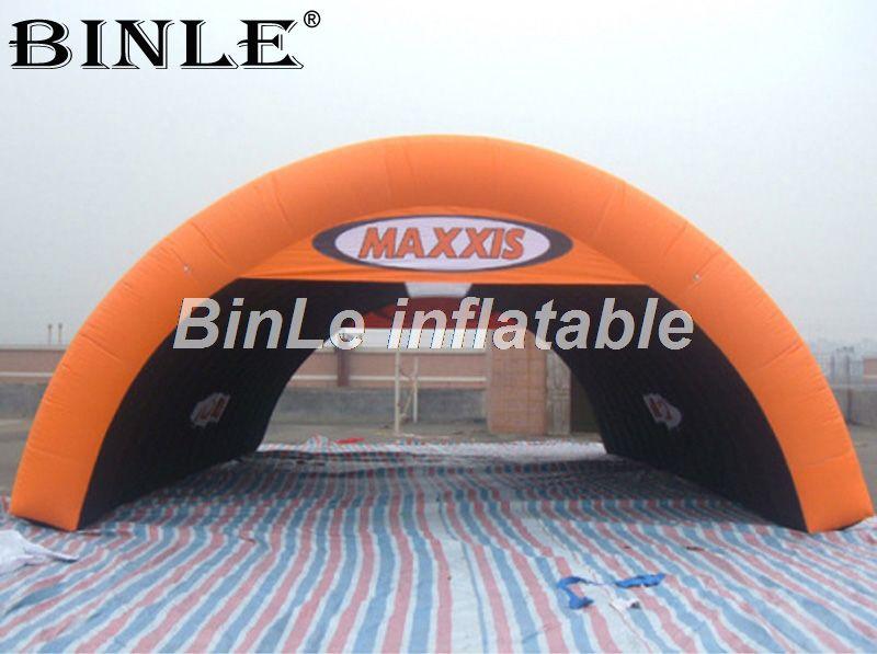 Heißer verkauf 8 mt riesen tragbare orange air aufblasbare zelt für auto garage/veranstaltungen/werbung