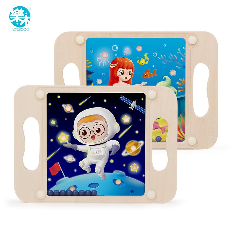Logwood Wooden toy Maze game ipad ball Math toys Learning and Education table Game Competitive toy toys for children gifts