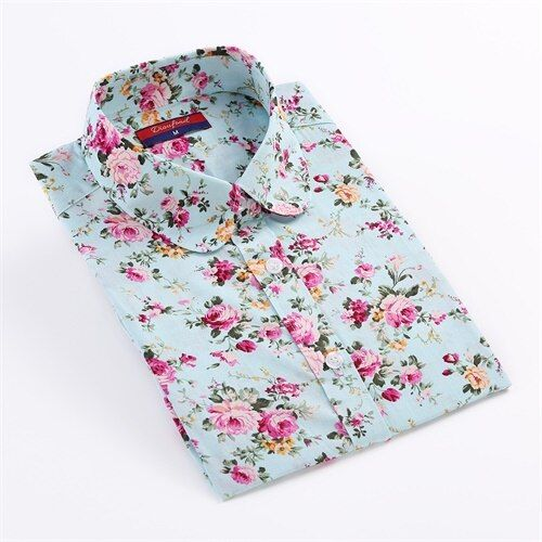 Dioufond Vintage Blouses femmes imprimer chemises à manches longues couverture en coton dames Floral Blusas grande taille 5XL mode femme vêtements