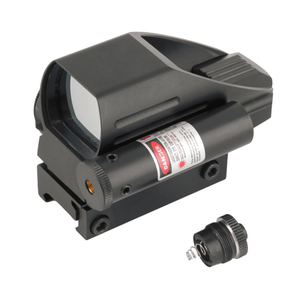 OUTAD Tactical Holographic Reflex Red / Green Dot Scope 4 Reticle & Red Laser Sight free shipping