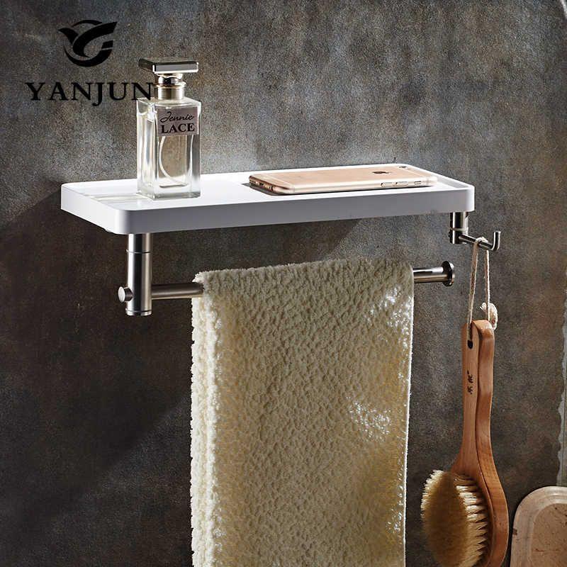 Yanjun Многофункциональный Полки для ванной полка бар Аксессуары для ванной комнаты полка настенная Гостиная yj-8831