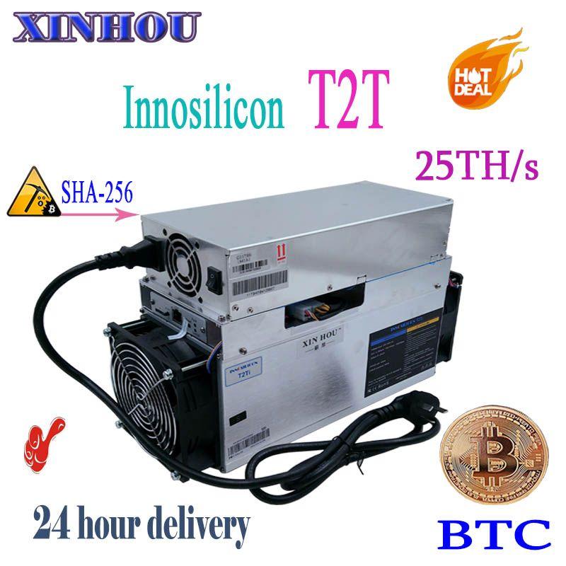 BTC BCH miner Innosilicon T2 Turbo (T2T) 25TH/S SHA256 asic Bitcoin miner besser als A9 antminer S9 S9i s9j T9 z9 whatsminer m3X