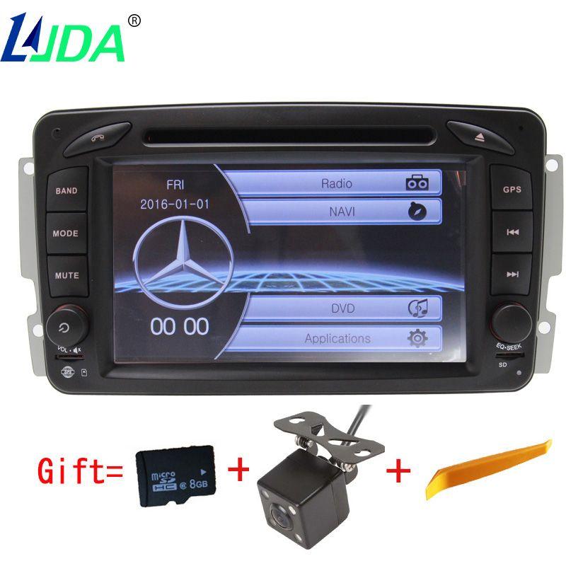 LJDA 2Din Car DVD Player for Mercedes Benz W203 W208 W209 W210 W463 W168 ML W163 W463 Viano W639 Radio bluetooth Gps navigation