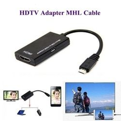 Nouveau Micro USB Vers HDMI Adaptateur Pour TV Moniteur 1080 P HD HDMI Audio Vidéo Câble MHL Convertisseur Pour Samsung HUAWEI HTC MHL dispositif