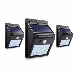 IP65 tahan air DIPIMPIN Luar Ruangan Cahaya Matahari Pencahayaan PIR Motion Sensor Solar panel Powered Cahaya Untuk dekorasi taman Koridor lampu dinding