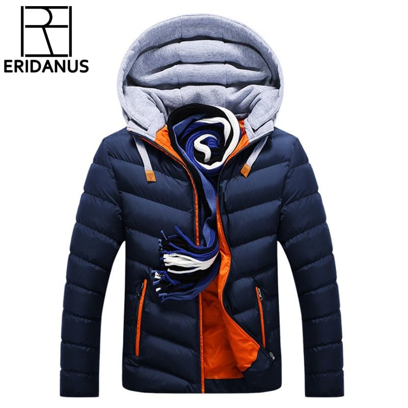 Veste d'hiver hommes chapeau détachable chaud manteau coton-vêtements d'extérieur rembourrés hommes manteaux vestes à capuche col Slim vêtements épais Parkas X327