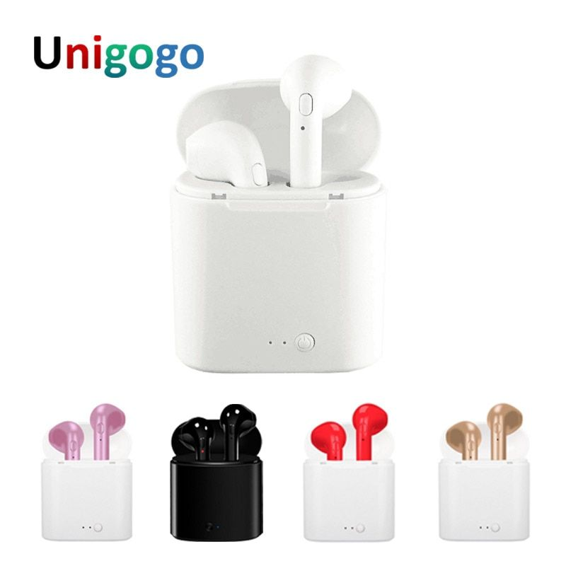 Mini I7 & i7S TWS Bluetooth Headphones Stereo Earbuds Portable Earphones Ture Wireless Headset with Mic For iPhone Android phone