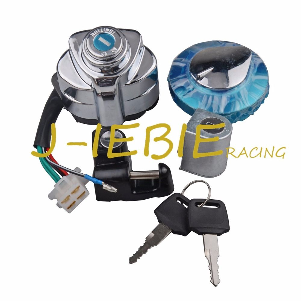 Ignition Switch Set Gas Cap Lock Key For Honda VT250 VT600 VT750 Magna 250 Shadow 400 750 Steed 400 VLX600