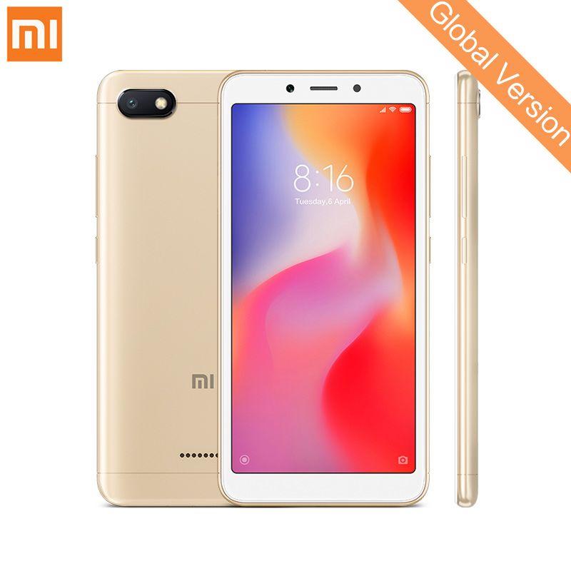 In Stock Global Version Xiaomi Redmi 6A 2GB 16GB Mobile Phone 5.45'' Full Screen Helio A22 Quad Core 13MP Camera AI Face Unlock