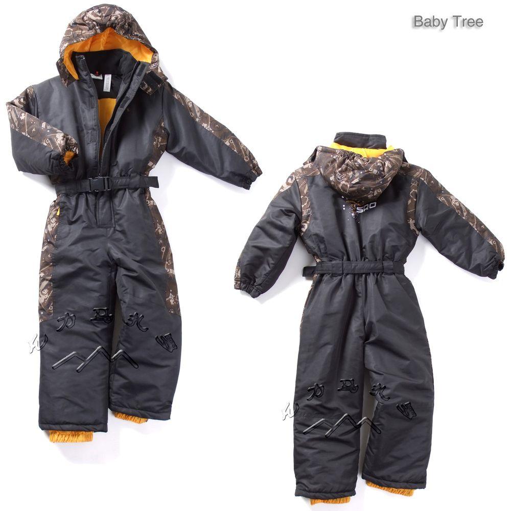 От 1 до 6 лет Германии брендовые Детские зимние лыжные костюмы толстый теплый хлопок-мягкий зимние уличные Куртки для маленьких мальчиков и ...