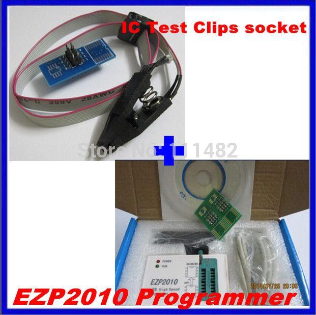 1set EZP2010 high-speed USB SPI Programme + IC Test Clips socket