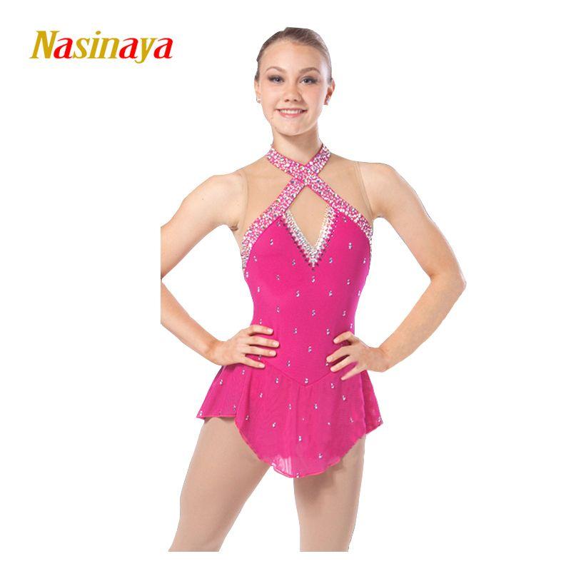 Nasinaya Figure Skating Dress Customized Competition Ice Skating Skirt for Girl Women Kids Patinaje Gymnastics Performance 149