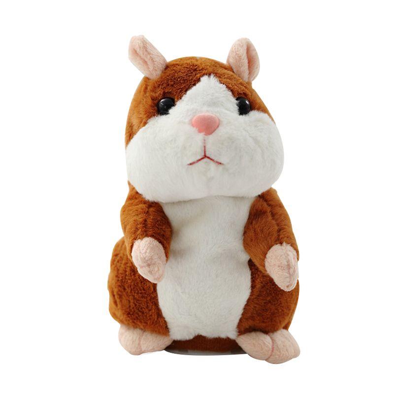 Parler Hamster souris animal de compagnie jouet de noël parler parler enregistrement sonore Hamster éducatif en peluche jouet pour enfants cadeau de noël