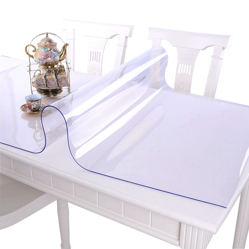 PVC en verre doux nappe étanche Anti-chaude table tissu transparent Table tapis en plastique Tapis Cristal plaque Café couverture de table