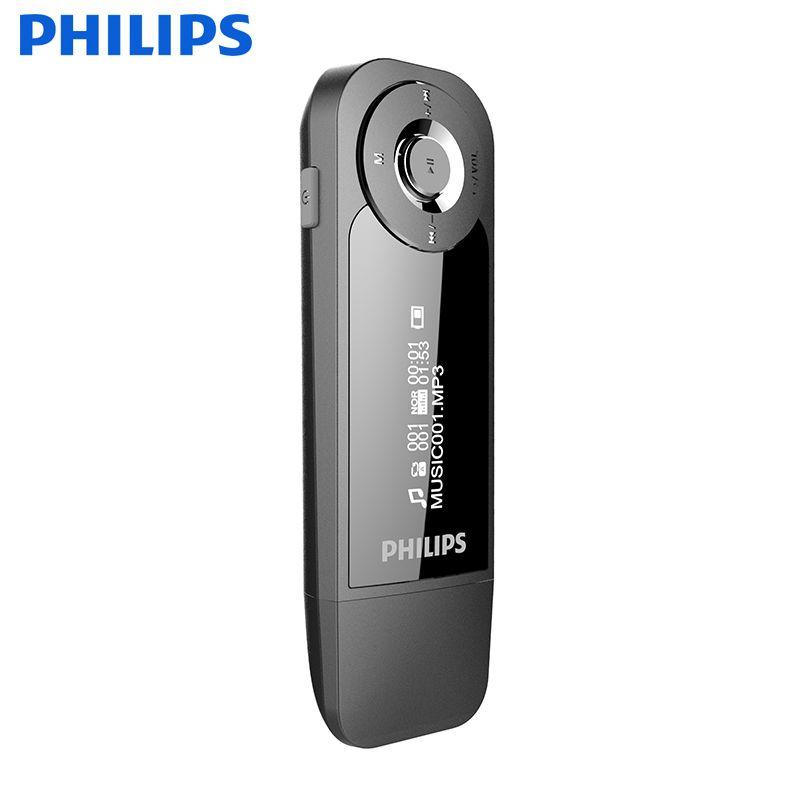PHILIPS FM Reproductor de Música MP3 Lossess Hi-Fi Calidad de Sonido para estudiante o trabajador de cuello Blanco para Aprender la Lengua y escuchar música