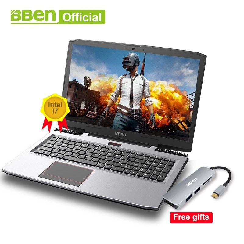 Bben Gaming Laptops Intel Core i7-7700HQ 15,6 IPS 1920x1080 screen 32 gb RAM, SSD128G/256g/512g, 1 tb/2 tb HDD windows10 pro